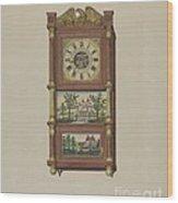 Shelf Clock Wood Print