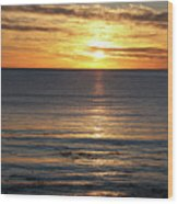 Shell Beach Sunset Wood Print