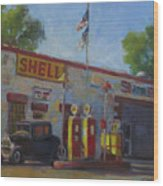 Shell Station Brown County Wood Print