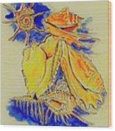 Shell Treasures Wood Print
