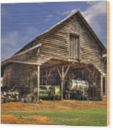 Shelter From The Storm Wrayswood Barn Wood Print