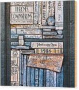 Shelved - 5 Wood Print