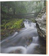 Shenandoah Mountain Stream Wood Print
