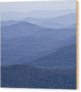 Shenandoah Mountains Wood Print