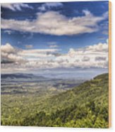 Shenandoah National Park - Sky And Clouds Wood Print