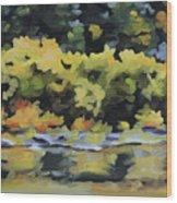 Shenandoah River Bank Wood Print