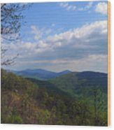Shenandoah Skies Wood Print