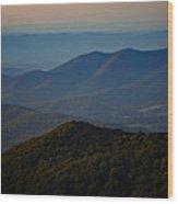 Shenandoah Valley At Sunset Wood Print