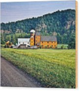 Shenandoah Valley Farm Wood Print