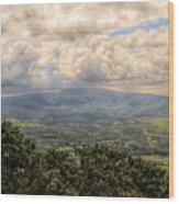 Shenandoah Valley - Storm Rolling In Wood Print