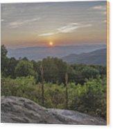 Shenandoah Valley Sunset  Wood Print