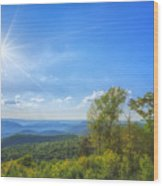 Shenandoah's The Point Overlook Wood Print