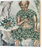 Shennong, Chinese God Of Medicine Wood Print