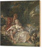 Shepherd And Shepherdess Wood Print