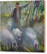 Shepherd... Wood Print