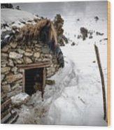 Shepherd Hut Wood Print