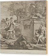 Shepherds In Arcadia Wood Print