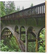 Shepperds Dell Bridge Wood Print