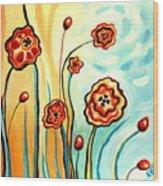 Sherbert And Powder Blue Skies Wood Print