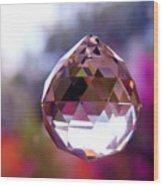 Sherbet Crystal Teardrop Wood Print