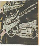 Sheriff Guns Wood Print