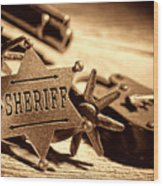 Sheriff Tools Wood Print