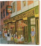Sherlock Holmes Restaurant Wood Print