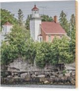 Sherwood Point Lighthouse Wood Print