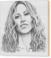 Sheryl Crow Wood Print