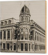 Shibe Park 1913 In Sepia Wood Print