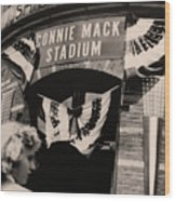 Shibe Park - Connie Mack Stadium Wood Print by Bill Cannon