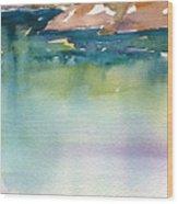 Shimmer Lake Wood Print