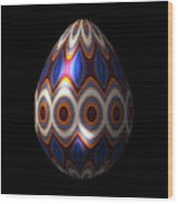 Shimmering Christmas Ornament Egg Wood Print