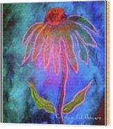 Shimmering Floral Wood Print