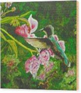 Shimmering Hummingbird  Wood Print