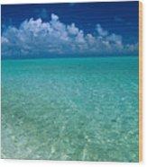 Shimmering Ocean Wood Print