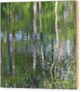Shimmering Reflection Wood Print
