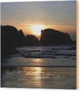 Shimmering Sands Sunset Wood Print