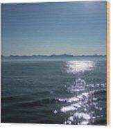 Shimmering Sea Wood Print