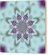 Shimmering Snowflake Wood Print
