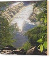 Shimmering Sun Rays On Colorado Springs Wood Print