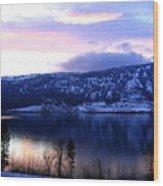 Shimmering Wood Lake Wood Print
