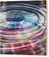 Shining Ripples In Bright Colors Wood Print