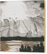 Shining Through The Storm Wood Print