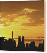 Shinjuku Sunrise Wood Print