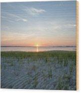 Shinnecock Bay Sunrise Wood Print