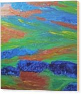 Shinning Sea Wood Print