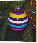 Shinny Brite Ornament Wood Print