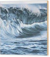 Shiny Wave Wood Print