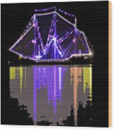 Ship In The Harbor Wood Print